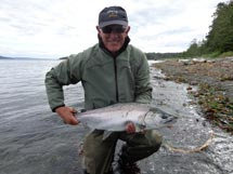 Freshwater fly fishing with Island Tides Vancouver Island fishing lodge.