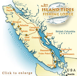 Getting to Island Tides BC Fishing Lodge Zeballos Vancouver Island