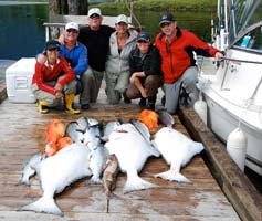 Salmon fishing on west coast Vancouver Island with Island Tides BC fishing lodge.